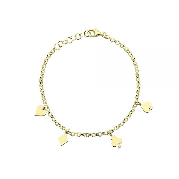 Pulsera Poker Face Oro