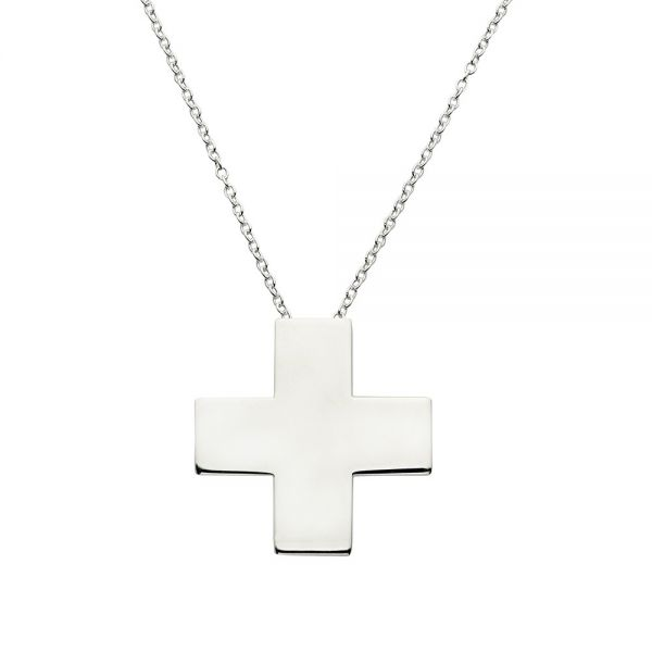 Collar Cross Plata